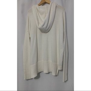 Athleta Tops - Athleta Ivory Revive Hoodie Sweater Size Medium